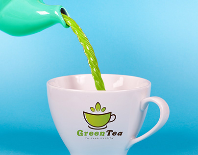 green tea natural logo design