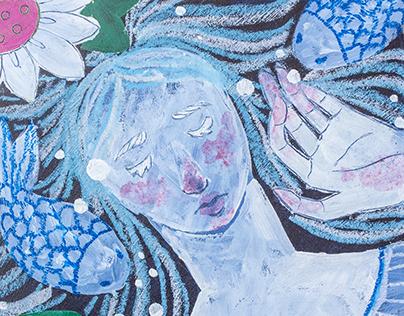 """Ilustración """"La niña de guatemala"""""""