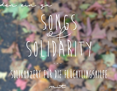poster & flyer for a solidarity concert
