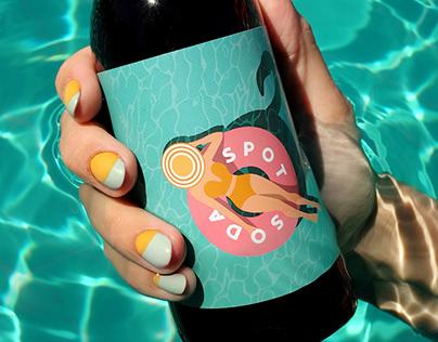 Spot Soda. Label Design.