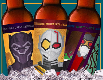 Avengers Beer Labels