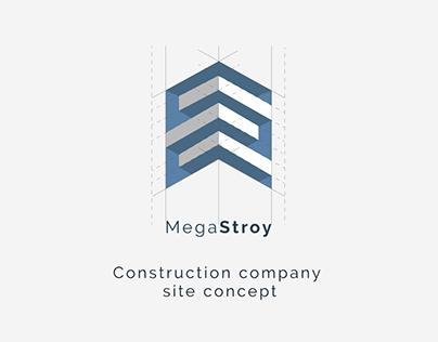 Construction company site concept
