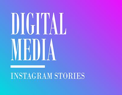 Digital media pack stories for instagram