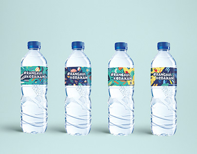 AQUA #rangkulkebaikan Bottle Label Design
