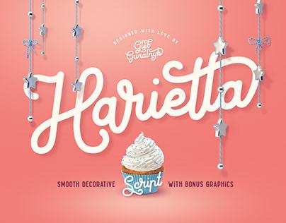 Harietta font and graphics