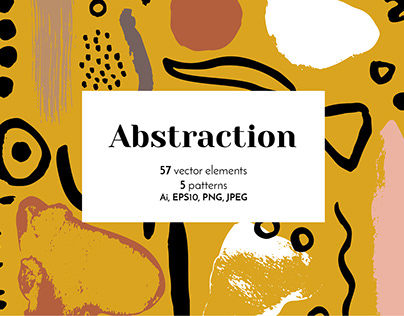 Vintage Abstract Collage Shapes Vector