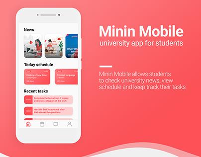Minin Mobile University app