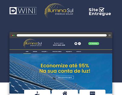 Site Criado para Empresa de Energia Solar