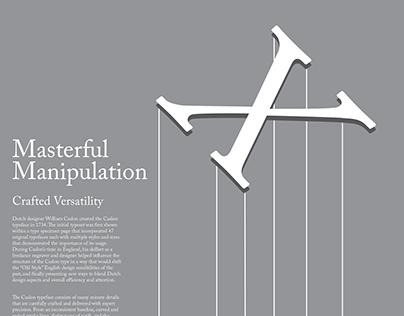 Caslon Typeface Poster