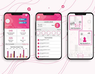 Insurance app layout