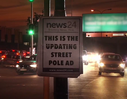 News24 - The Updating Street Pole Ad - Outdoor