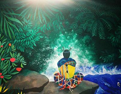 Jungle Mural Painting