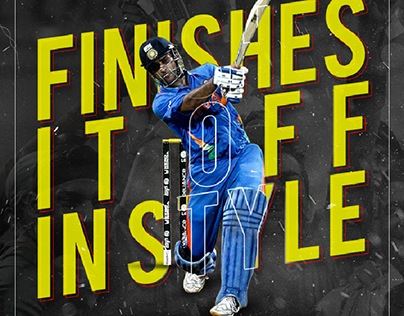 MS Dhoni finishes it off in style