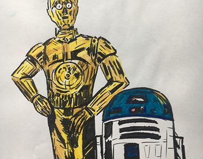 C-3PO & R2-D2 #starwars