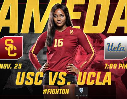 Social Media Graphics - USC Women's Volleyball