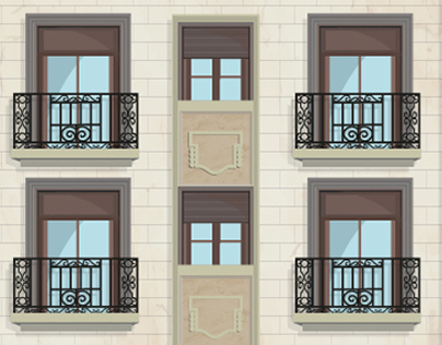 Mimetic Building Cover - Via Layetana 36 Barcelona