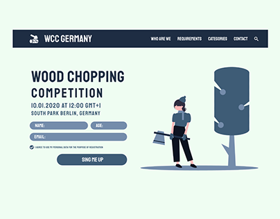 Wood Chopping Competition - Daily UI #001