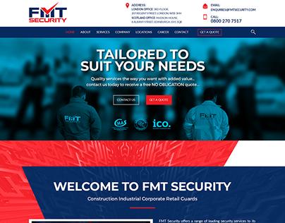 FMT Security Services Website Mockup