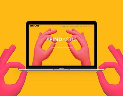 SHOUUT APP - Website Design
