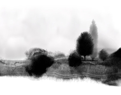 Ink wash painting