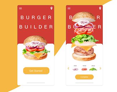 Burger Builder Adobe Xd Challenge