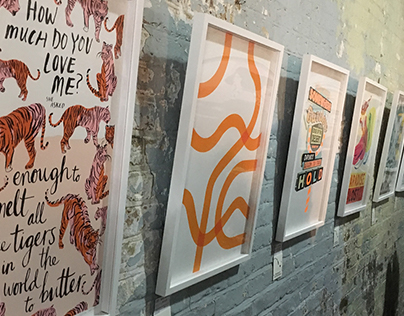 Mr Tickle at the Printclub London Blisters Show 2017