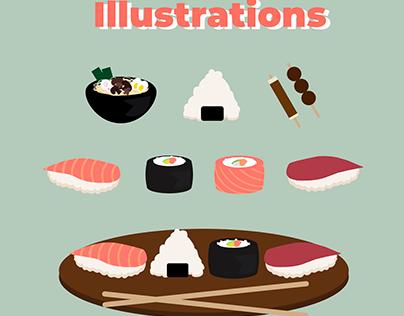 GRAPHISME - Illustrations nourriture japonaise