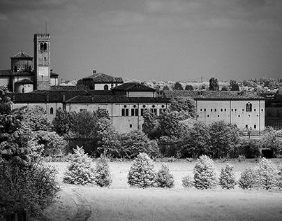The Benedictine Abbey of Praglia - Infrared photography