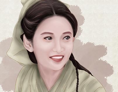 Yukee Chen in Zhaomin character Fanart