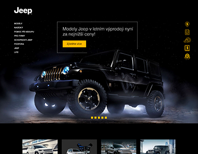 Jeep (website, dashboard and icons)