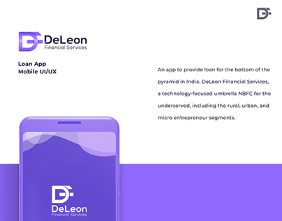 DeLeon Financial Services . Mobile UX/UI