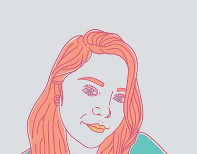 Self-Portrait Line Art