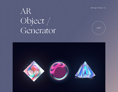 AR Object / Generator 99+ Days in the lab