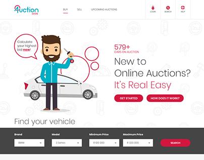 Auction.co.za Web UI