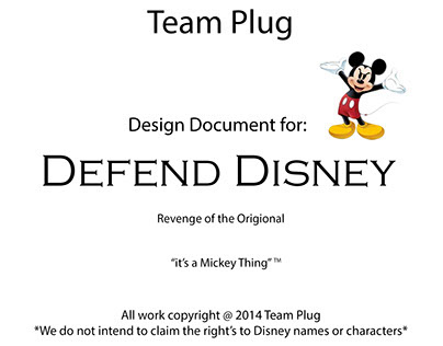 Defending Disney Video Game Proposal