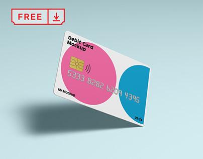 Free Debit Card Mockup