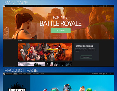 Epic Games Launcher UI