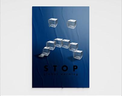 """global warming"" poster"