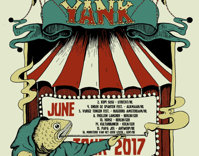 Yank band 2017 tour poster