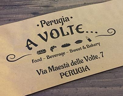 "Logo "" A Volte "", bakery - Perugia. Italy"