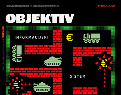 Newspaper illustration - Objektiv covers