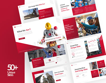 Manufacube – Construction Presentation Template