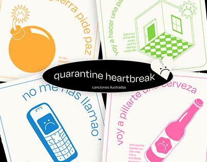 Quarantine Heartbreak - Illustrated songs