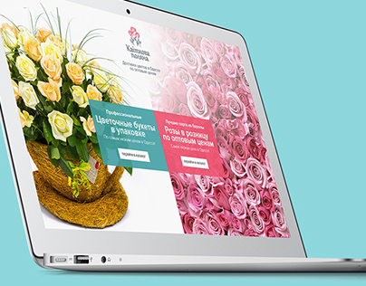 "Site design for ""Flower Fields"""