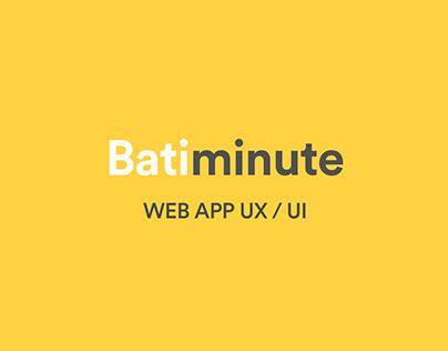Batiminute ● startup ● WEB APP ● UX UI