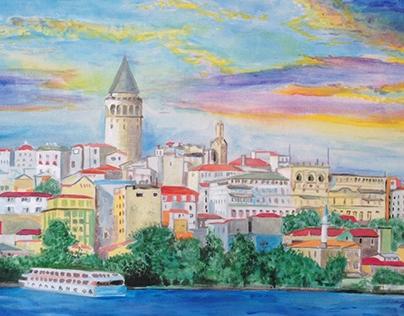 Galata tower. Istanbul.