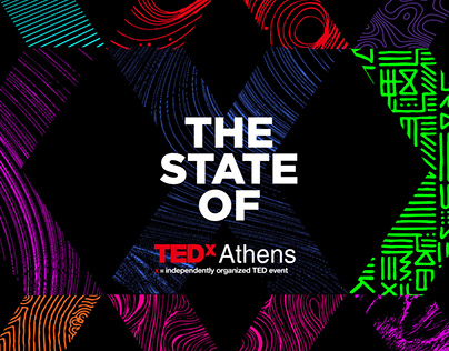 TEDx Athens 2019 Branding. The state of X.