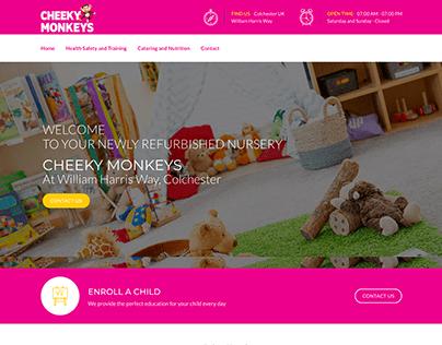 Cheeky Monkeys   Web Design