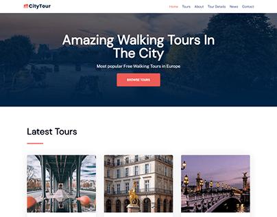 Tour landing page, travel WordPress website