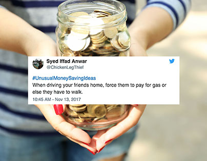 "13 Funniest ""Unusual Money Saving Ideas"""